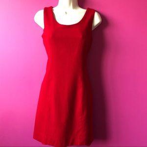 Vintage Gianni Red Petite Sheath Petite Dress - M